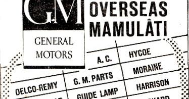 OĞUZ TOPOĞLU : GM GENERAL MOTORS, OVERSEAS MAMULATI