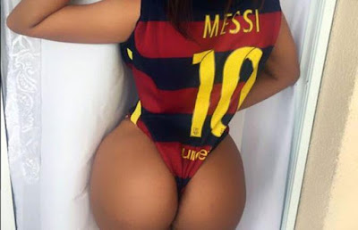 Suzy Cortez, the Brazilian fanatic for Barcelona