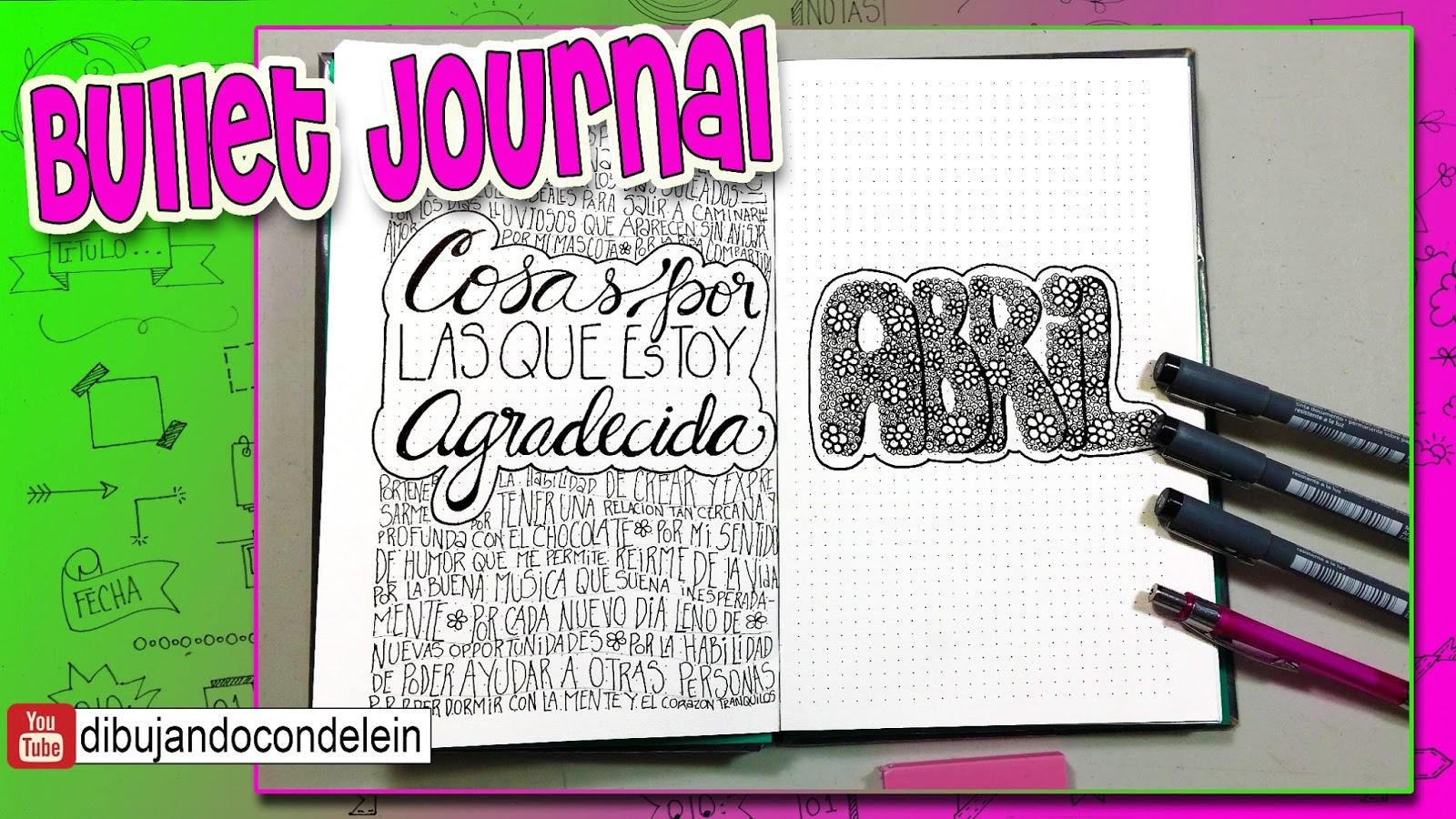 Bullet Journal Portada Del Mes De Abril Manualidades
