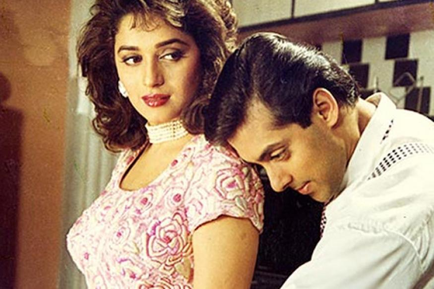 Top 10 movies of Madhuri Dixit - Madhuri Dixit and Salman Khan in Hum Aapke Hain Kaoun