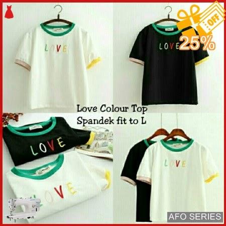 AFO561 Model Fashion Love Colour Top Modis Murah BMGShop