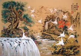 Tranh son dau so hoa o Hang Buom