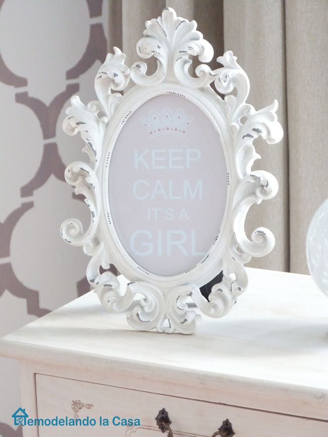 Keep calm it's a girl - sign in frame - girl nursery