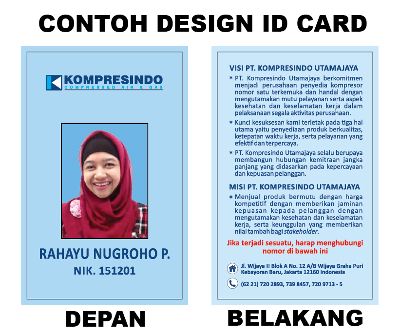 Berkah Prima Mandiri Contoh Id Card