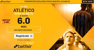 betfair supercuota 6 Atletico gana Betis Liga 14 mayo