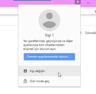 google chrome kişi değiştir
