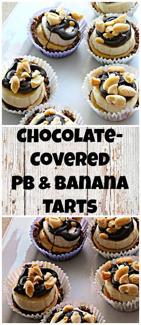 Copy Cat Pampered Chef Chocolate-Covered Peanut Butter & Banana Tarts