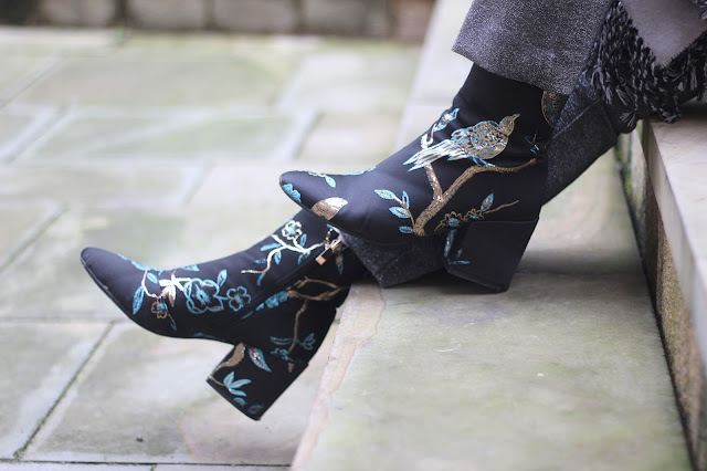 ego fashion embroidered boots