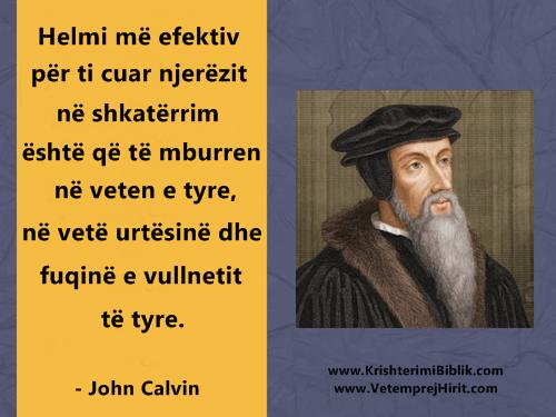 thenie biblike te krishtera, Gjon Kalvin,