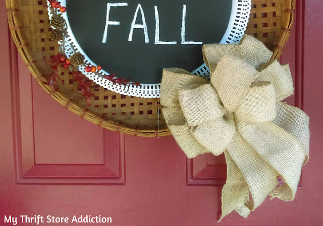 vintage farmhouse fall wreath
