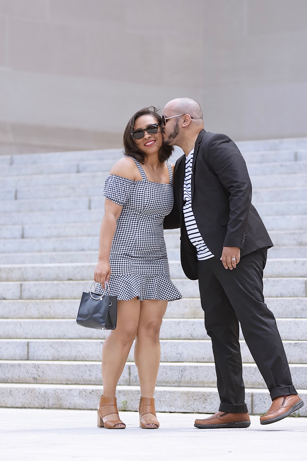 Better in Pairs | Healthy Marriage Tips From A His & Her Perspective, hush puppies shoes, gingham print, marriage advie, his and hers, couples photoshoot, marriage advice, husband and wife, couples outfit idea, summer looks