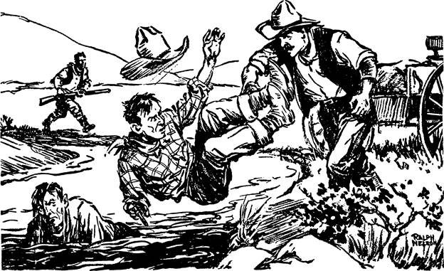 Adventure, January 1, 1928 - Illustration by Ralph Nelson for Hell an' High Water by Stephen Payne