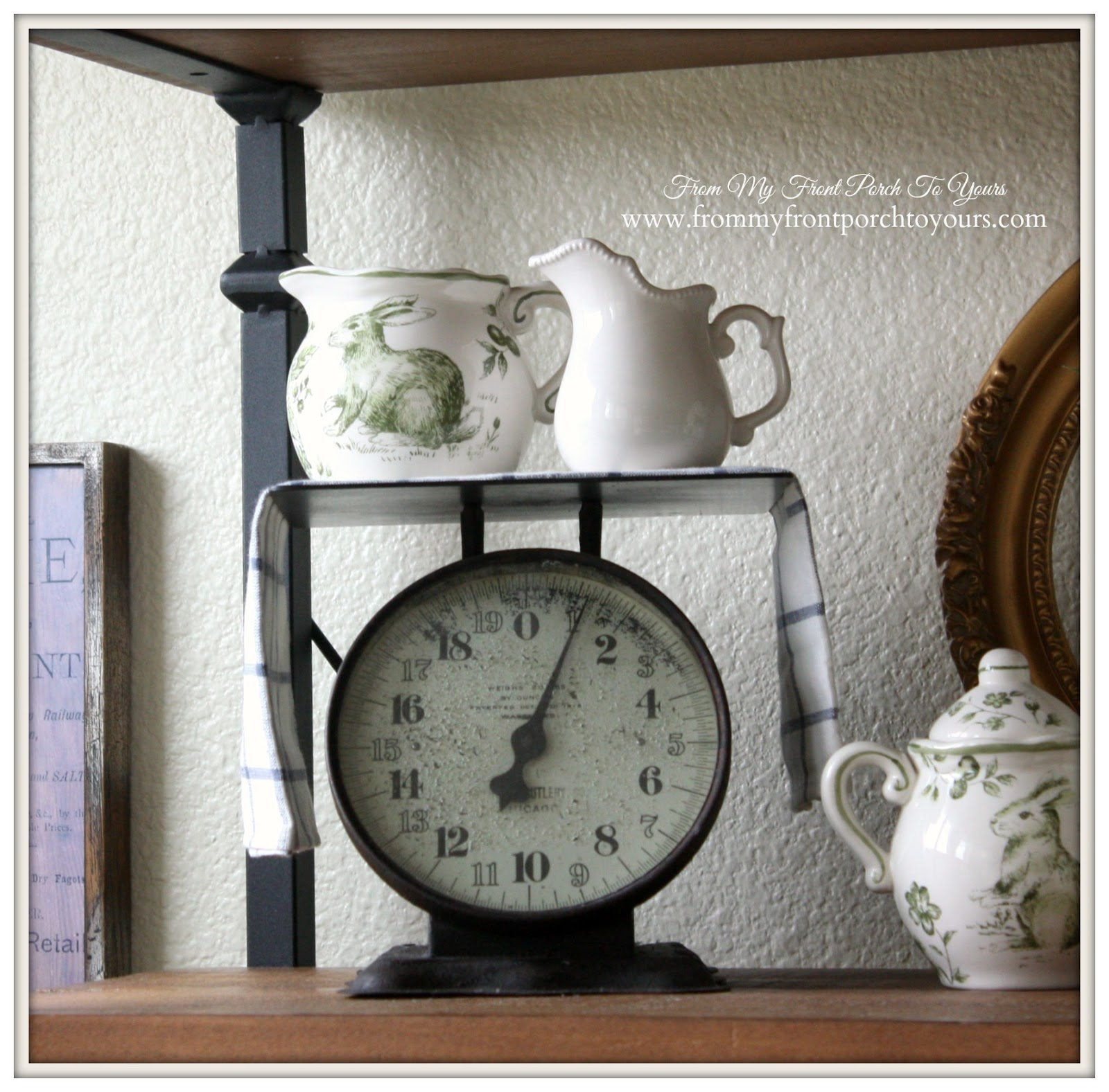 French Farmhouse Spring-Vintage Scale- Breakfast Nook- From My Front Porch To Yours