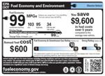Etiquetagem da EPA para veículo elétrico ou híbrido