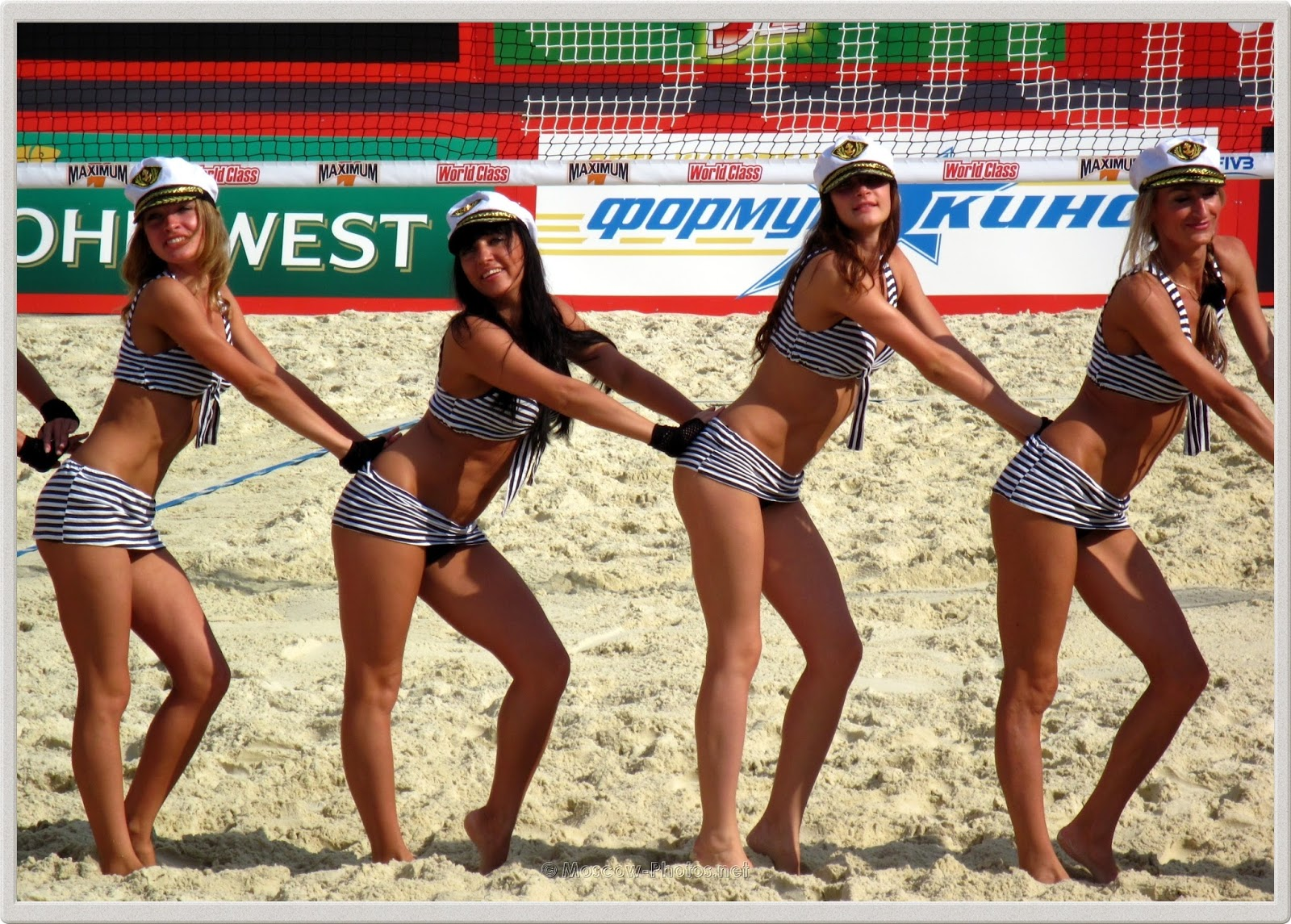 Beach Volleyball Girls in Sailors Suits