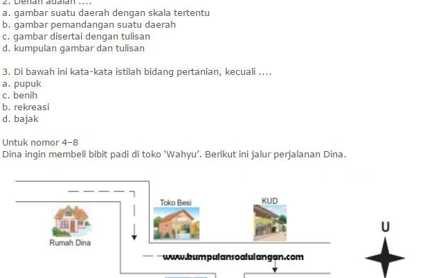 Contoh Soal UTS Bahasa Indonesia Kelas 4 SD Semester 1