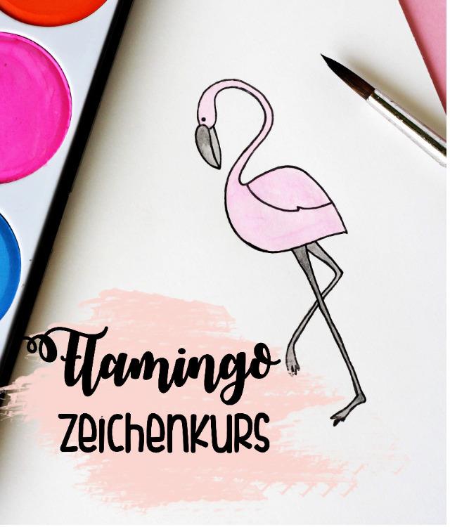 Zeichenkurs - Flamingo zeichnen lernen - Some Joys