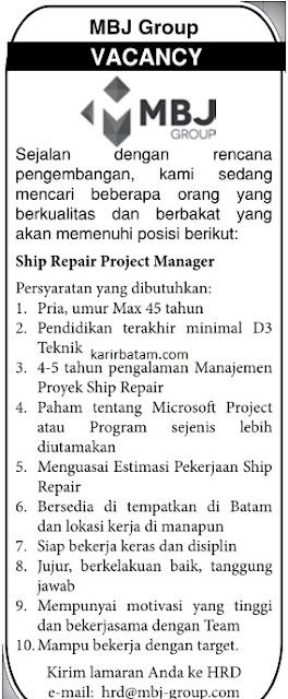 Lowongan Kerja PT. MBJ Group Indonesia