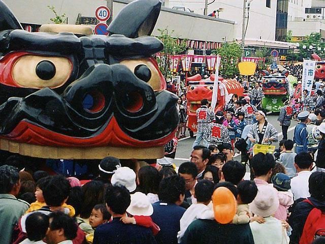 Sakata Matsuri (Big Shishi Float), Sakata City, Yamagata Pref.