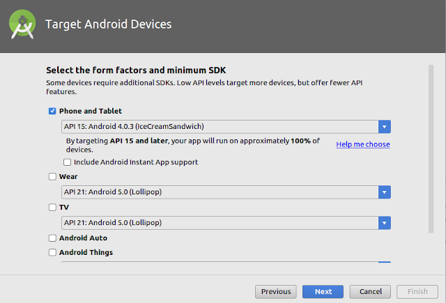 Select Minimum Sdk Version