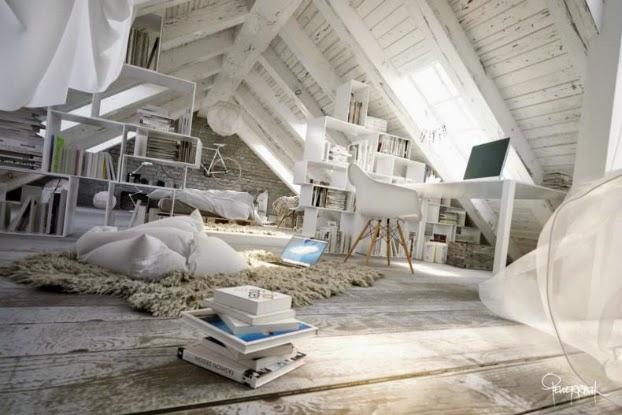 white loft space