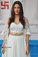 Telugu Actress Amyra Dastur Stills in White Skirt and Blouse at Anandi Indira Production LLP Production no 1 Opening  0034.JPG