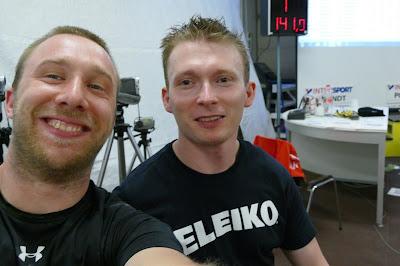 Markus und Sebastian nach dem Wettkampf