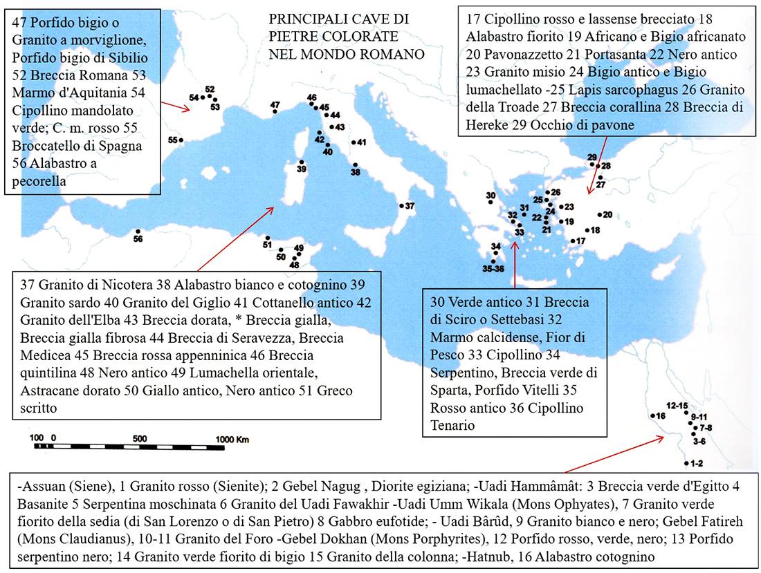 Tipi Di Marmo Grigio il marmo romano | romanoimpero