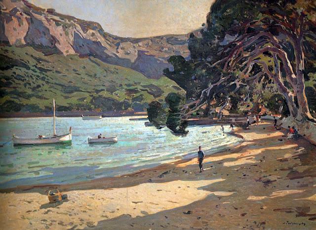 Josep Puigdengolas Barella,  Mallorca en Pintura, Mallorca en Pintura, Mallorca pintada, Cap Formentor, Paisajes de Mallorca, Mallorca en Pintura