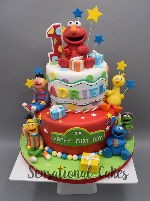The Sensational Cakes Sesame Streets Theme 3d Cake