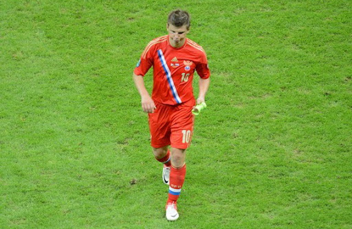 Andrei Arshavin fails to lead Russia into the knockout stages of Euro 2012