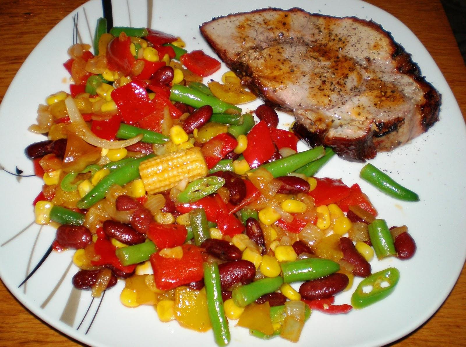 Friptură de porc și legume în stil mexican