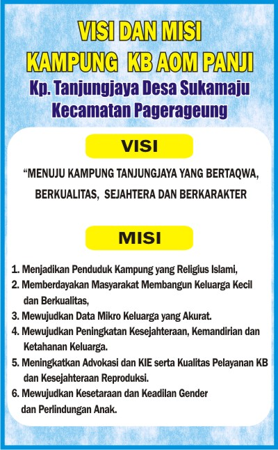 Download Contoh Visi Misi Kampung Kb Format Cdr Karyaku