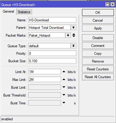 Queue Tree Download Hotspot Mikrotik