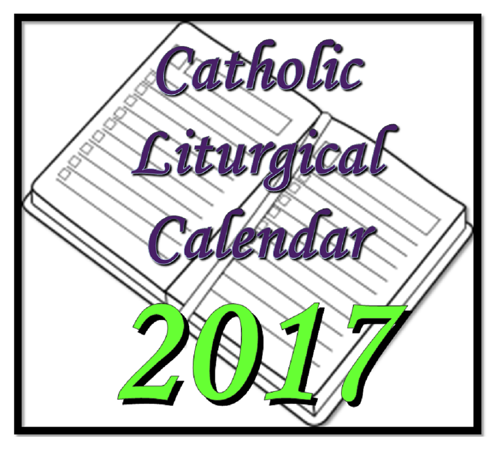 page of links to Roman Catholic liturgical calendars in the English speaking world