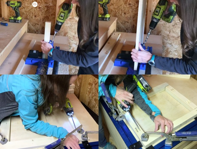 using a Kreg jig to build with pocket holes