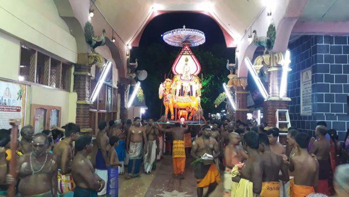 செல்வ சந்நிதி முருகன் ஆலய ஒன்பதாம் நாள் உற்சவம்!