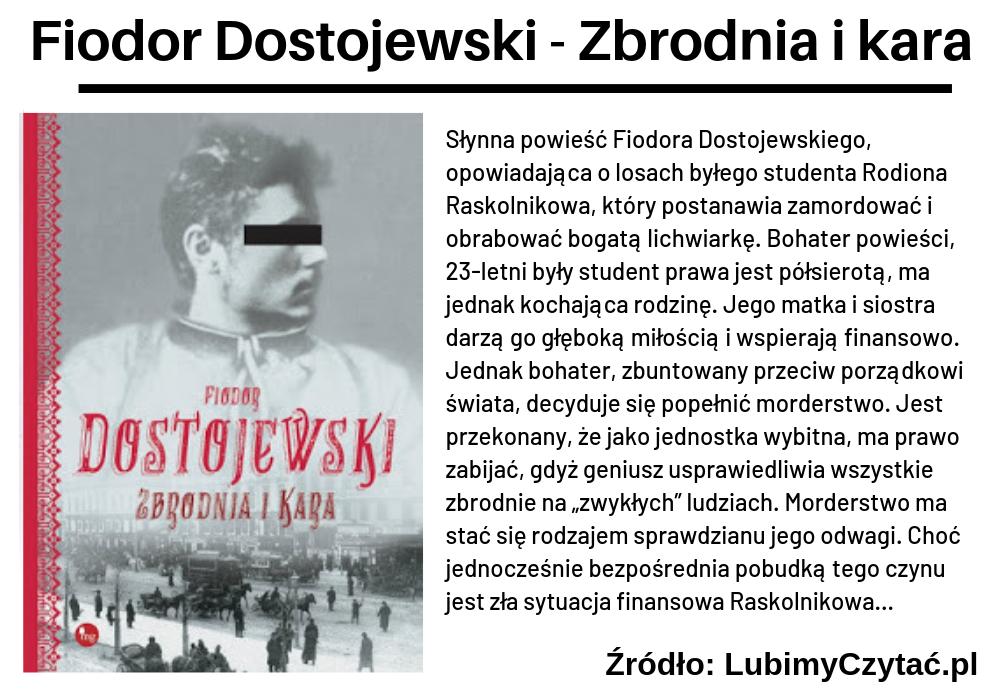 Fiodor Dostojewski, Zbrodnia i kara, TOP 10, Marzenie Literackie