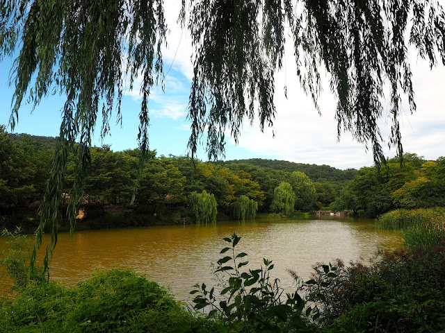 View of the river in the Korean Folk Village, Yongin, Gyeonggi-do, South Korea