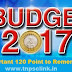 Tnpsc Current Affairs: General Budget 2017-18 - 120 Points Remeber - Download PDF