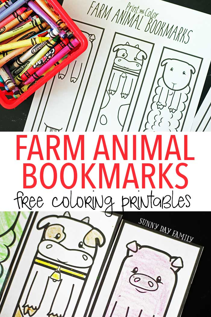 Free printable farm animal bookmarks for kids to color! These farm coloring pages are perfect for a preschool farm theme or just for fun. Decorate these cute bookmarks and be sure to check out our new favorite Farm book for preschoolers too!