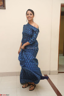 Anchor Anasuya in a Blue Gown at Jai Lava Kusa Trailer Launch ~  Exclusive Celebrities Galleries 035.JPG