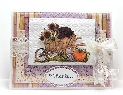 Our Daily Bread Designs Stamp Set: Seasons Change, Our Daily Bread Designs Custom Dies: Wheelbarrow, Pierced Rectangles, Layered Lacey Ovals, Flower Lattice Strip, Faithful Fish Pattern, Our Daily Bread Designs Paper Collection: Rustic Beauty, Christian Faith