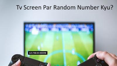 Tv screen random number