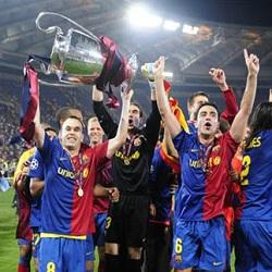Foto Barcelona Juara Liga Champions