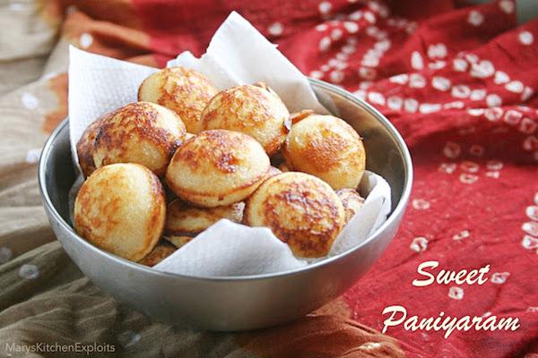Sweet Paniyaram Recipe | Mutta Paniyaram Using Leftover Batter