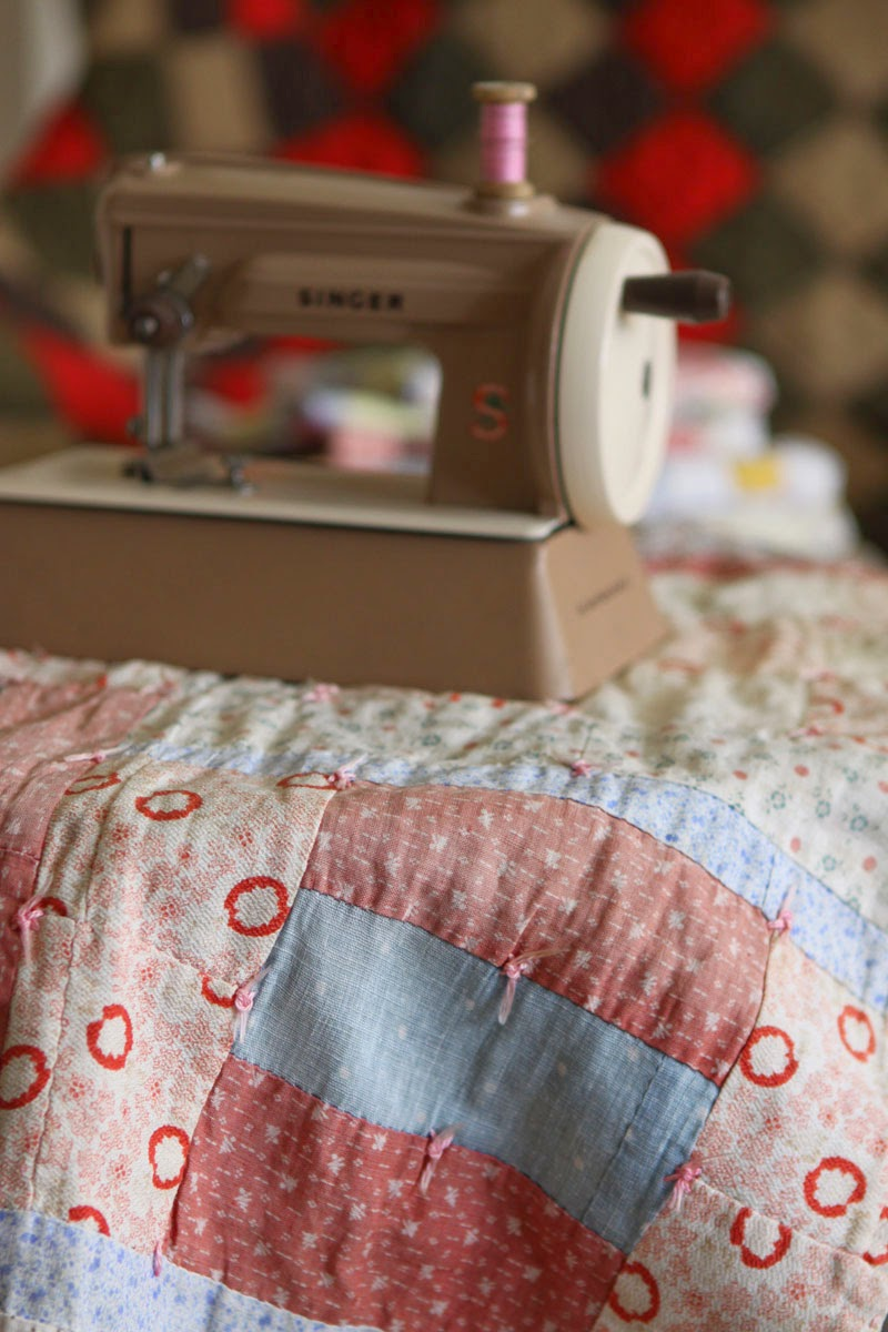 Antique doll quilt