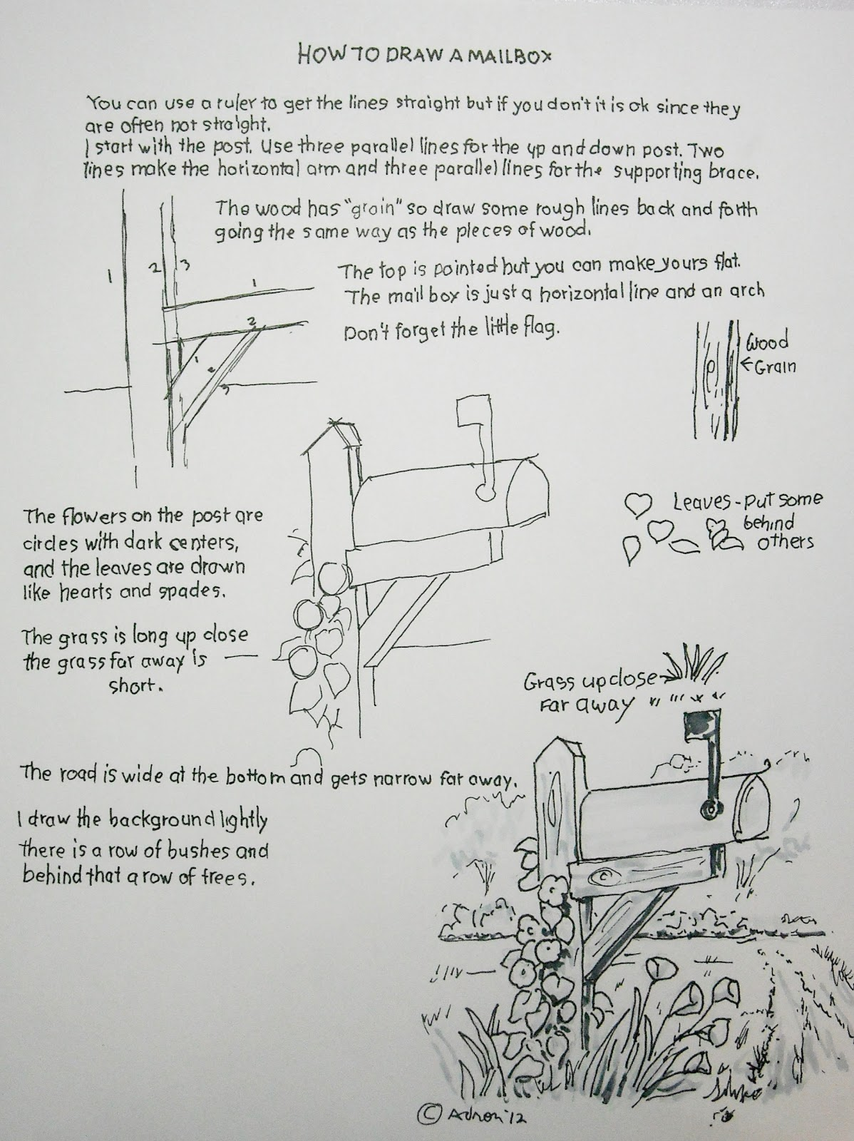 Uncategorized The Mailbox Worksheets how to draw worksheets for the young artist a mailbox rural worksheet