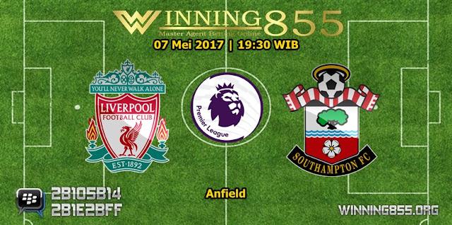 Prediksi Skor Liverpool vs Southampton 07 Mei 2017