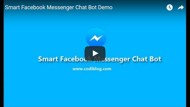 Smart Facebook Messenger Chat Bot Video Demo